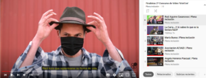 captura pantalla lista vídeos youtube