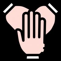 3 manos una sobre otra